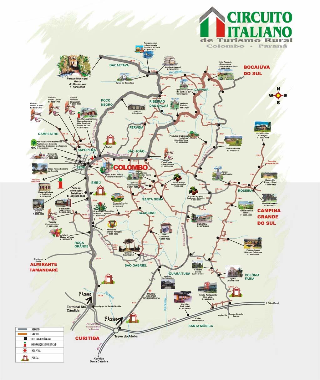 mapa colombo Gruta do Bacaetava – Colombo PR | Motociclista Curitibano mapa colombo
